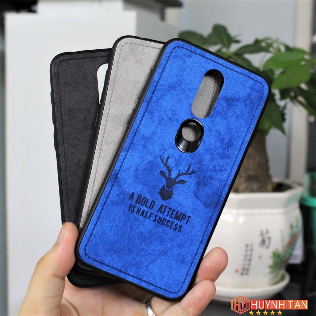 Ốp lưng Nokia 6.1 Plus (Nokia X6 2018) vân vải khắc 3D nổi hình Nai (Full màu)