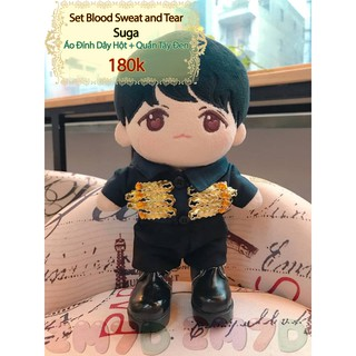 Set Blood Sweat & Tear: Suga (Không kèm Doll) BTS – Outfit Doll 20 cm – 2Mom7Dolls Handmade