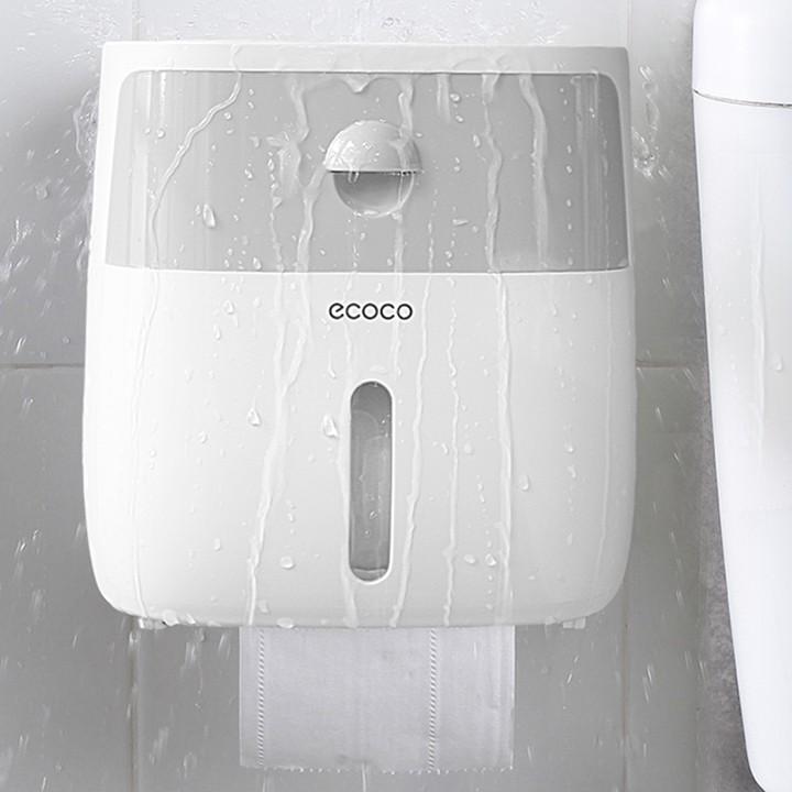 Hộp Đựng Giấy Vệ Sinh Ecoco 2 Tầng Có Khay Để Điện Thoại - Hộp Giấy Vệ Sinh Đa Năng