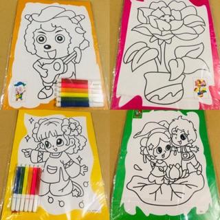 Tranh tô màu dành cho bé gái 👧🏻👧🏻