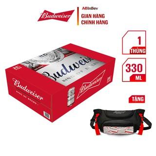 Thùng 24 Lon Bia Budweiser Chính Hãng (330ml/ lon)