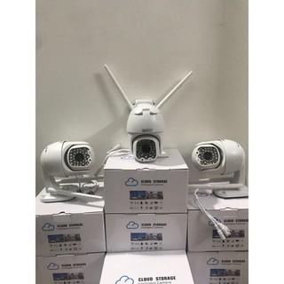 Camera giám sát 360° dùng Sim 4G + thẻ nhớ 128Gb