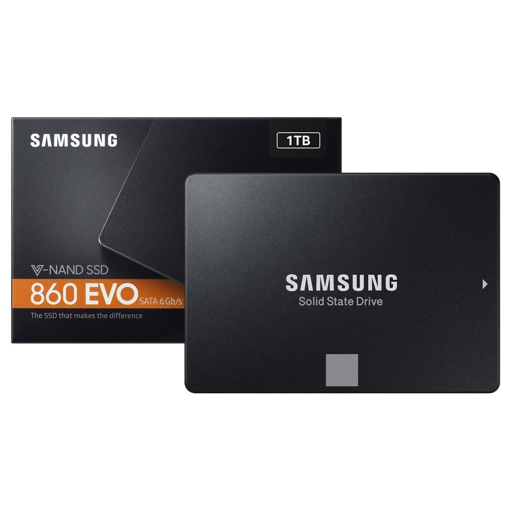 Ổ Cứng SSD Samsung 860 Evo 1TB 2.5-Inch SATA III MZ-76E1T0BW – Hàng Chính Hãng Giá chỉ 3.690.000₫