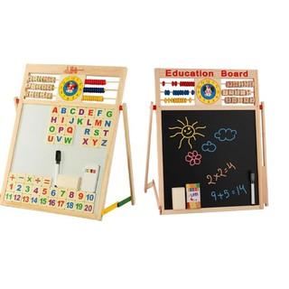 Bảng tập viết, tập tính toán 2 mặt tặng kèm phấn màu cho bé