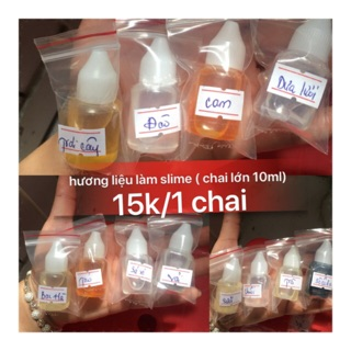 hương liệu- nguyên liệu làm slime(CHAI 10ML)