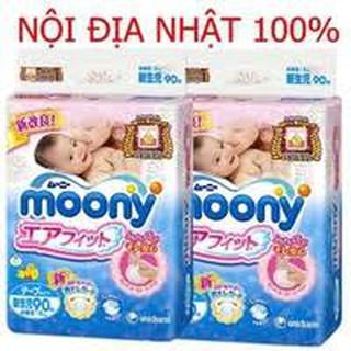 Tã bỉm Moony NỘI ĐỊA NHẬT dán quần NB90 S84 M64 L54