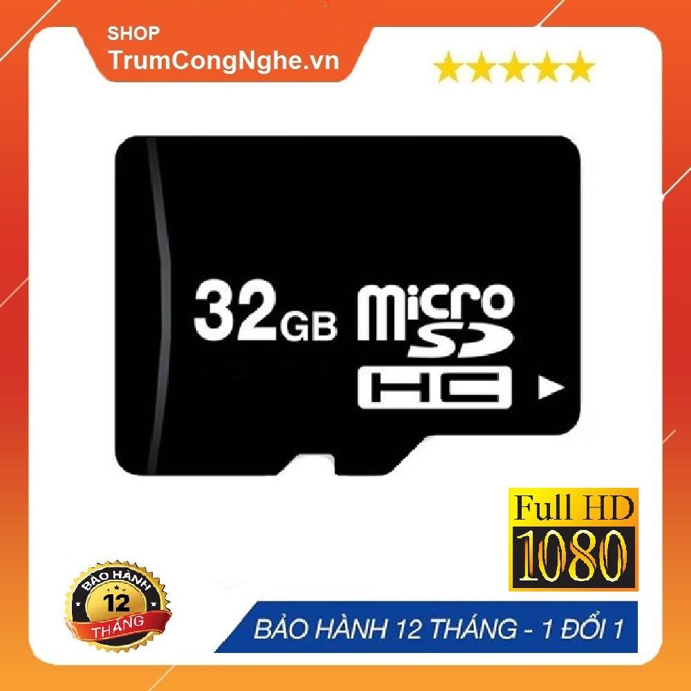 Thẻ nhớ MicroSD 32GB/16GB Class 10 tốc độ cao (Đen) - Bảo hành 24 tháng