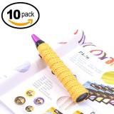 Cuốn cán vợt cầu lông có GÂN chống trơn - Bộ 10 cái - thoáng khí thoát mồ hôi LEPIN (Vàng)