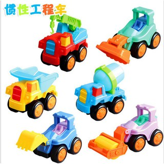 Wrestling inertia Q version of the tractor engineering team children toy car
