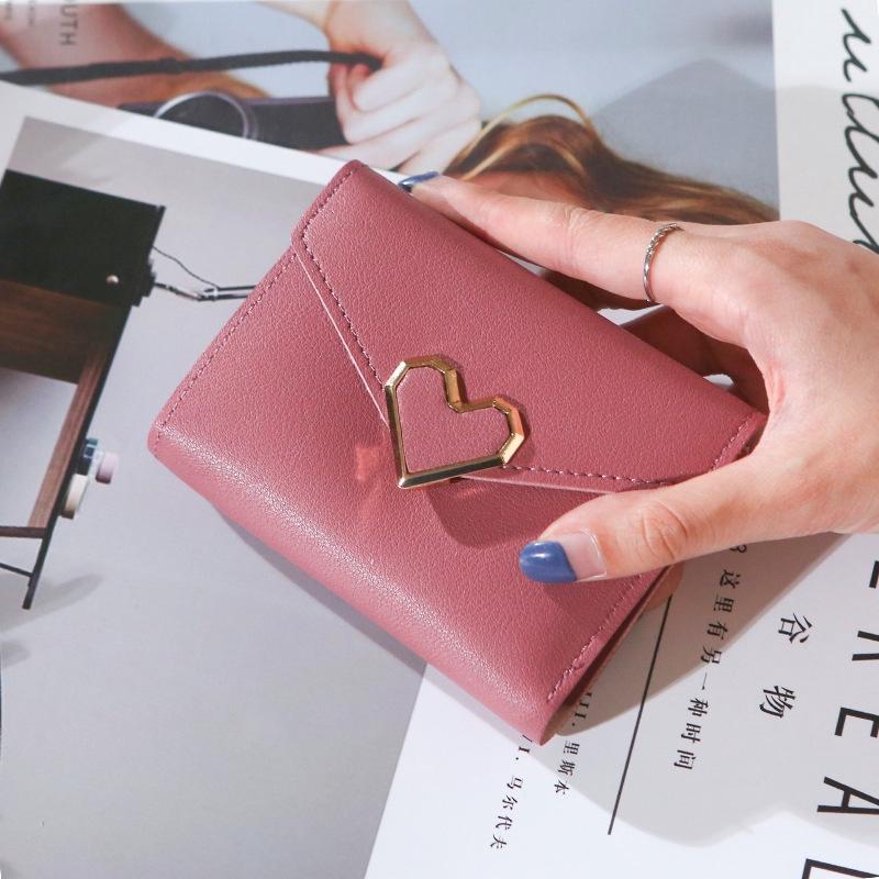 Ví nữ ngắn đẹp cầm tay mini nhỏ gọn bỏ túi nhiều ngăn dễ thương LOT STORE VD68