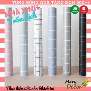 [Bao rẻ toàn thị trường] COMBO 10M Giấy dán tường ( có sẵn keo ) rộng 45cm HỌA TIẾT CARO/ SAO