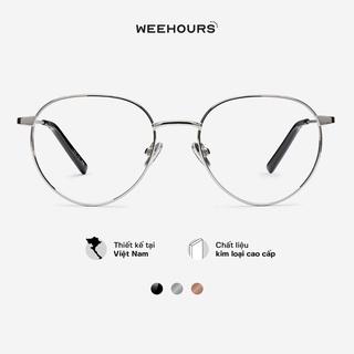 Gọng kính cận nam nữ WeeHours WHIZ, dáng tròn thời trang, chất liệu kim loại không gỉ thumbnail