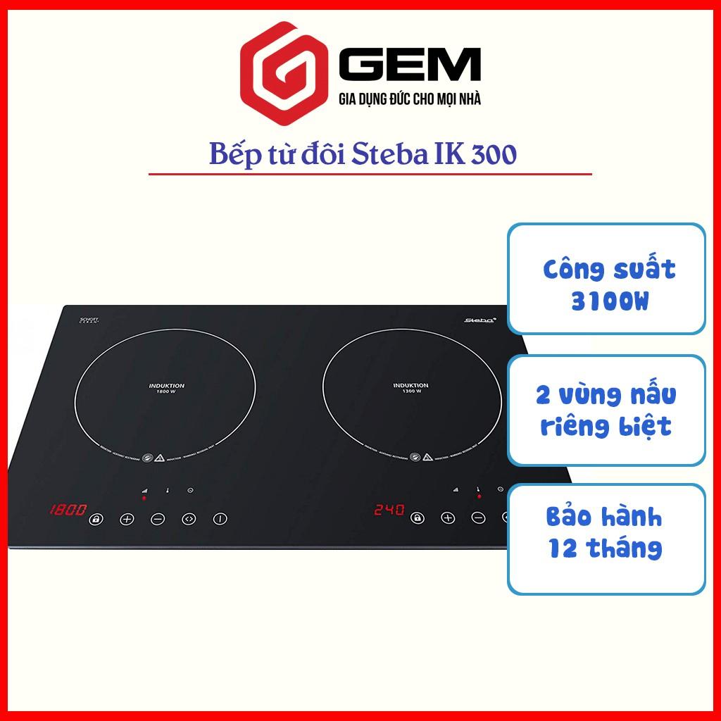 [Mã SKAMSALE8 giảm 10% đơn 200K] Bếp từ STEBA IK 300 - Bếp từ đôi lắp âm bàn Bảo hành 12 tháng.