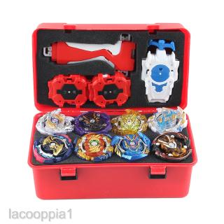 12pcs Battling Tops Attack Burst Gyro Set w/ Launcher and Storage Case Red