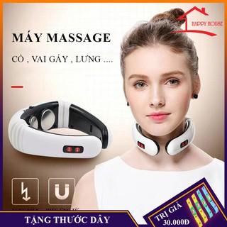 Máy massage cổ, vai gáy cao cấp. Trị liệu đau cổ, vai gáy tặng 2 miếng dán xung điện