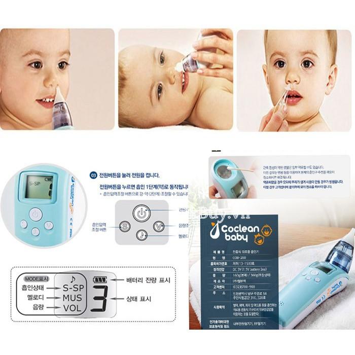 Máy xông hút mũi Welbutech Co-Clean Baby COB-100