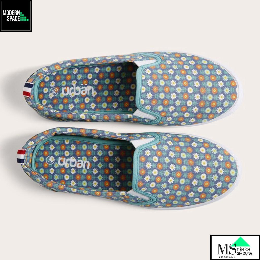 (GIÀY NỮ UDA) Giày sneaker nữ Urban UL1605 hoa xanh chàm [CHÍNH HÃNG]