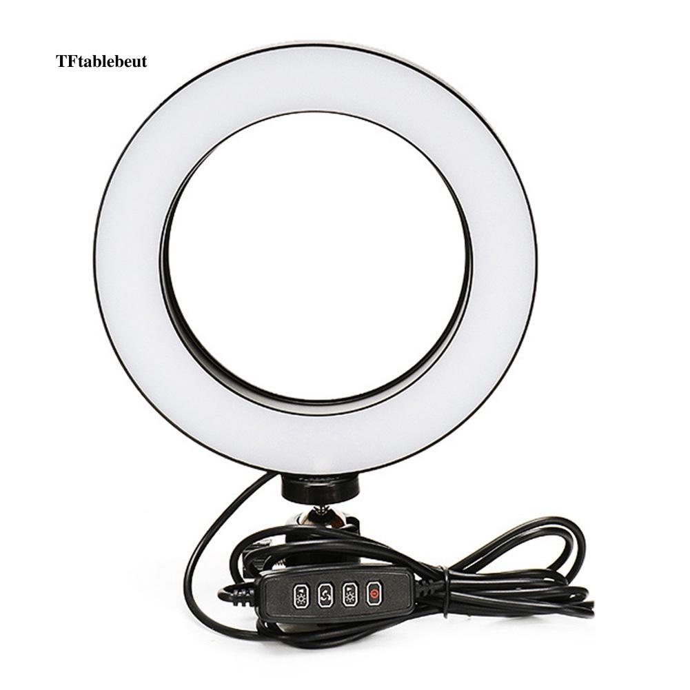 Đèn LED tròn gắn điện thoại hỗ trợ chụp ảnh selfie kèm đầu chuyển đổi