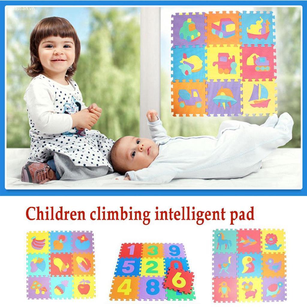 Se Kids Baby Soft Bọt Chơi Mat Puzzle Động vật Số lượng Crawling Mat