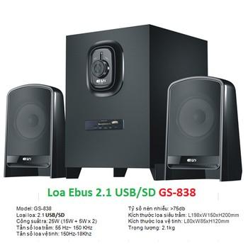 Loa Ebus GS-838 2.1 Giá chỉ 360.000₫