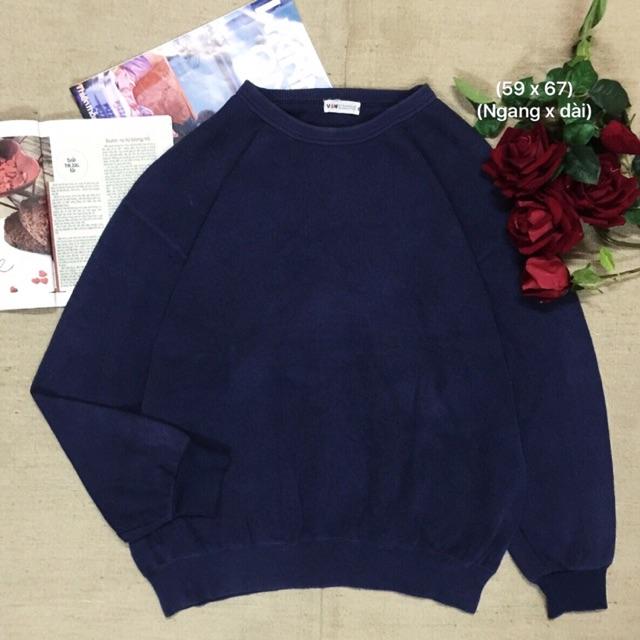 Áo sweater xanh đen