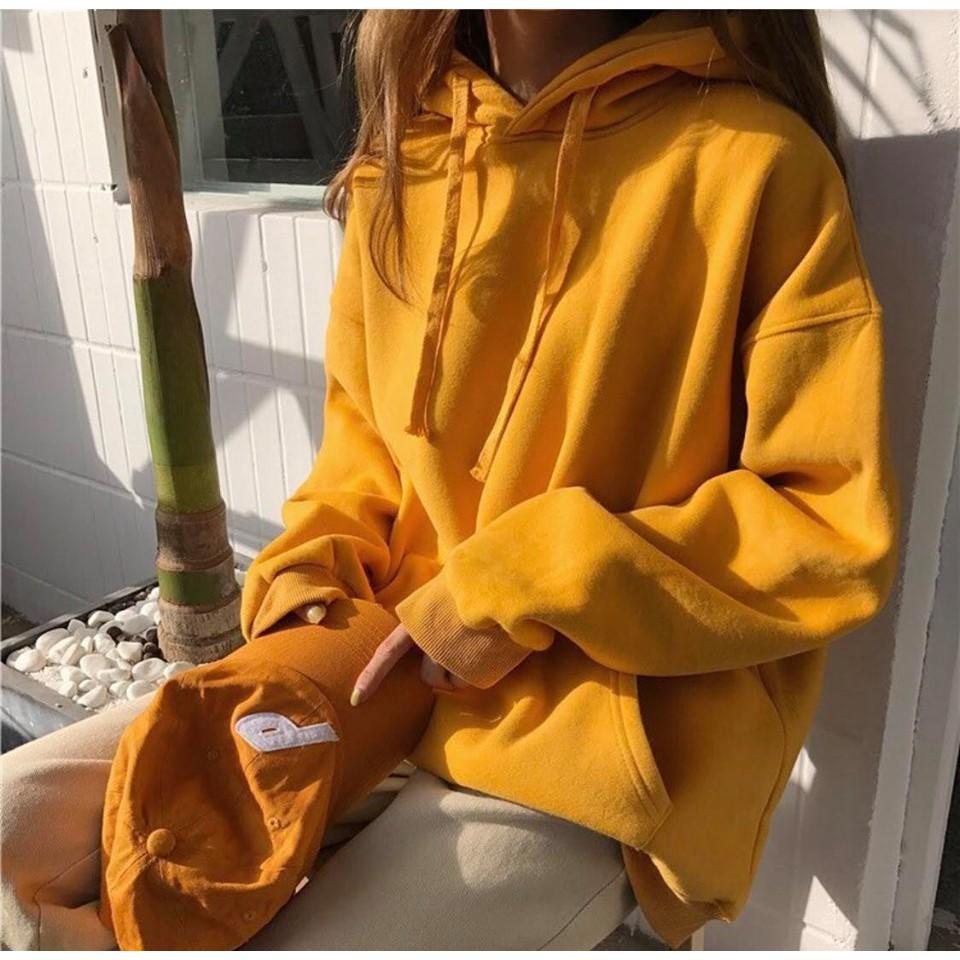 Áo hoodie trơn