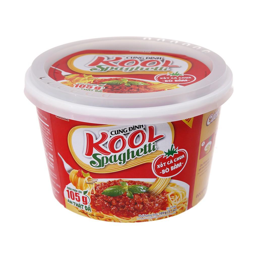 (THIỆN CHIẾN MART) Mì Cung Đình Kool xốt spaghetti thịt bò bằm tô 105g (SHOP YÊU THÍCH)