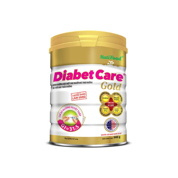 (Date 2020, mẫu mới) Sữa bột Diabetcare gold dành cho người tiểu đường loại 900g