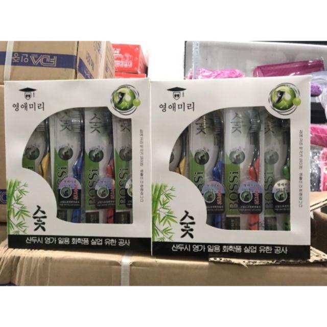 Bàn Chải Đánh Răng Than Tre Hoạt Tính Hàn Quốc BOSSI NO921 ( giao màu ngẫu nhiên)- BÁN SI