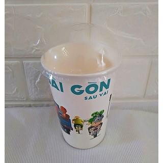50 Ly Giấy In Hình Sài Gòn 16oz 480 ml Có Nắp Ly giấy cafe Ly giấy 500ml Ly giấy đựng cà phê Cốc giấy thumbnail