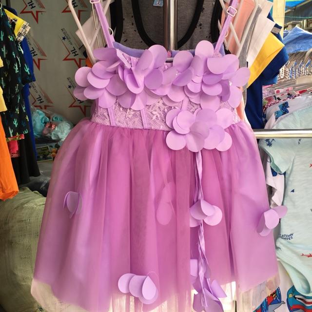 1361360852 - Váy/đầm 2 dây bé gái đính hoa