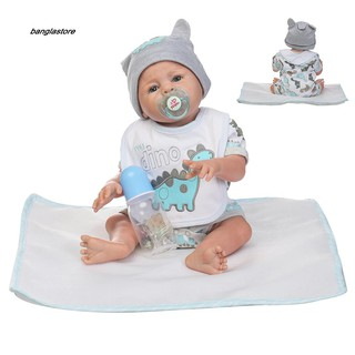 [AC} Vivid Simulation Baby Toy Soft Children Kids Newborn Reborn Doll Birthday Gift