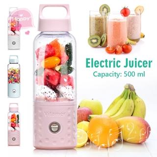 【Persediaan】 500ML 4000mAh Portable Mini USB Charging Vitamer Fruit Juicer