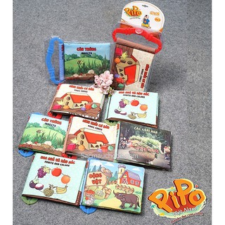Sách vải Pipo Việt Nam có quai gặm nướu nhiều chủ đề (1 cuốn)
