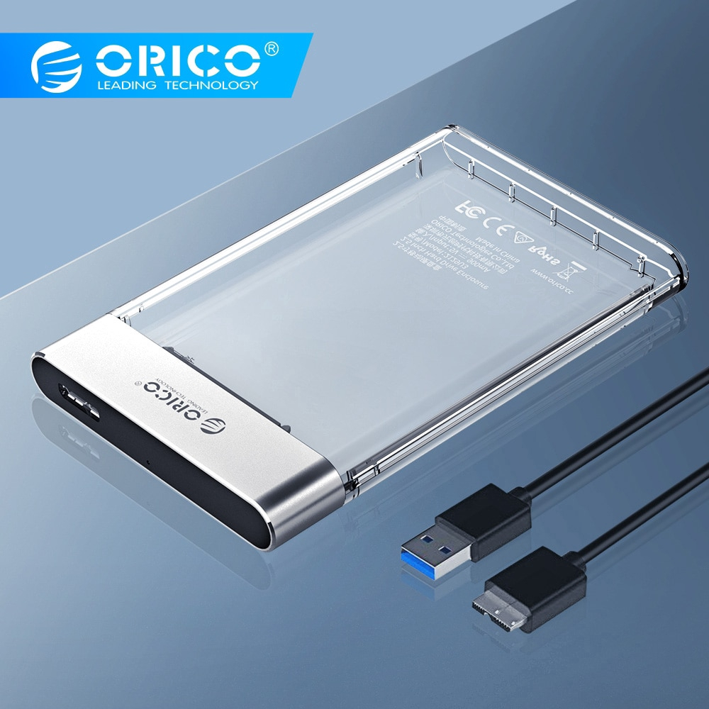 ORICO HDD Case New 2.5 inch Transparent Add Metal SATA to USB 3.0 Hard Disk Case Tool Free 6Gbps Support 4TB UASP Case