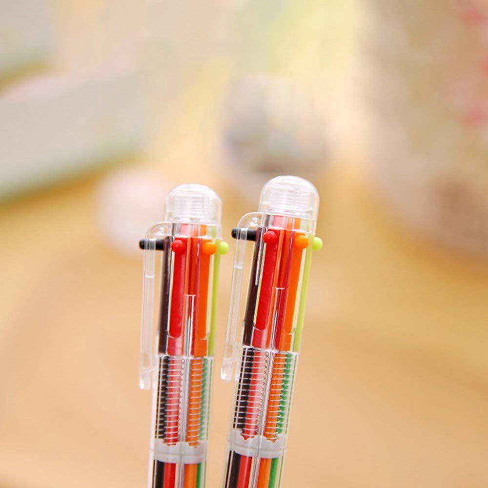 Bút bi nhiều màu thiết kế 6 trong 1 hoặc 8 trong 1 ngòi 0.5mm tiện dụng 5