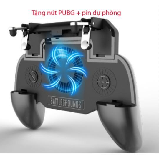 [Sale Khủng] Tay Cầm Game Tản Nhiệt - Nút PUBG + Pin Dự Phòng - PUBG, ROS, FF...