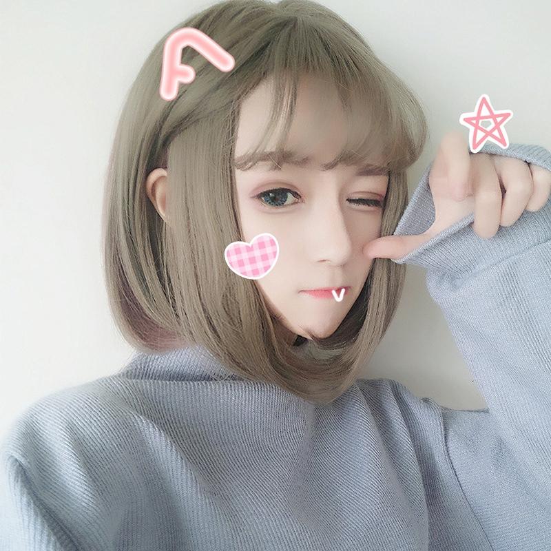 Bộ tóc giả ngắn uốn xoăn - 14977667 , 2692983122 , 322_2692983122 , 173600 , Bo-toc-gia-ngan-uon-xoan-322_2692983122 , shopee.vn , Bộ tóc giả ngắn uốn xoăn