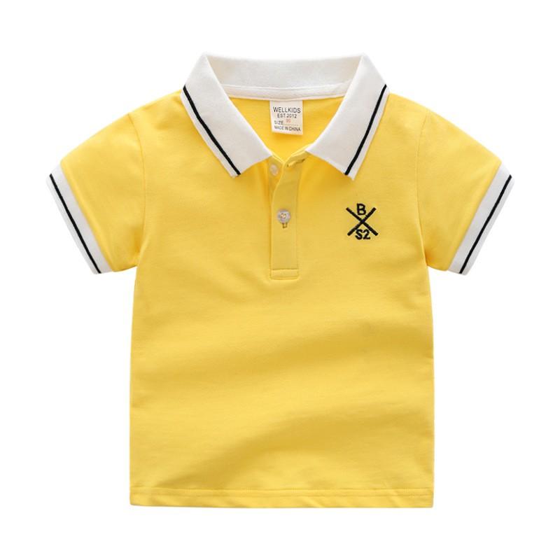 Áo Polo cho bé WELLKIDS chất cotton hàng xuất Âu Mỹ
