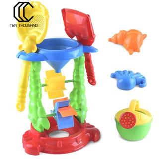 T→ 6Pcs Kids Outdoor Shovel Water Sprayer Sandbox Sand Beach Playing Toy