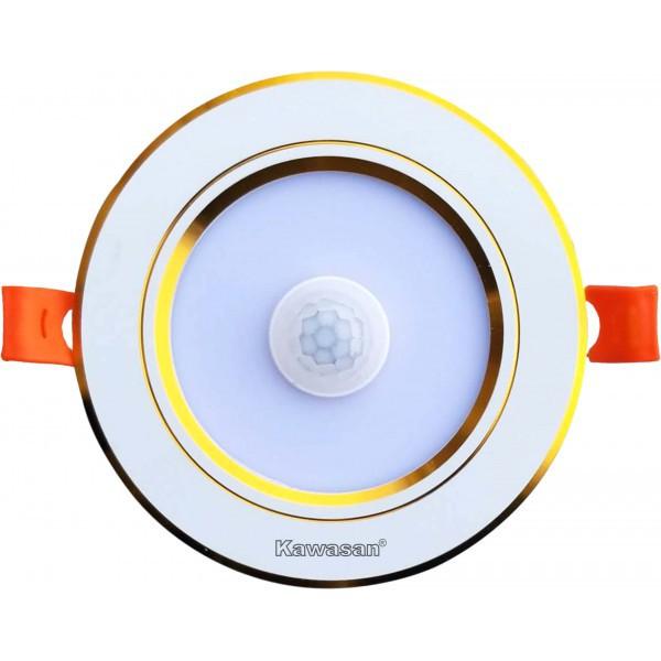 Bóng đèn LED 9W âm trần cảm ứng hồng ngoại Kawasan DSB9W