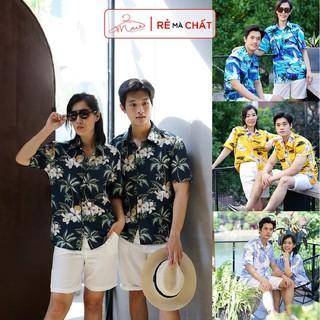[giá rẻ vô địch] TOP áo sơ mi đẹp đi biển gia đình nhóm công ty hình họa tiết hoa lá canh đồ team du lịch hawai trái cây thumbnail