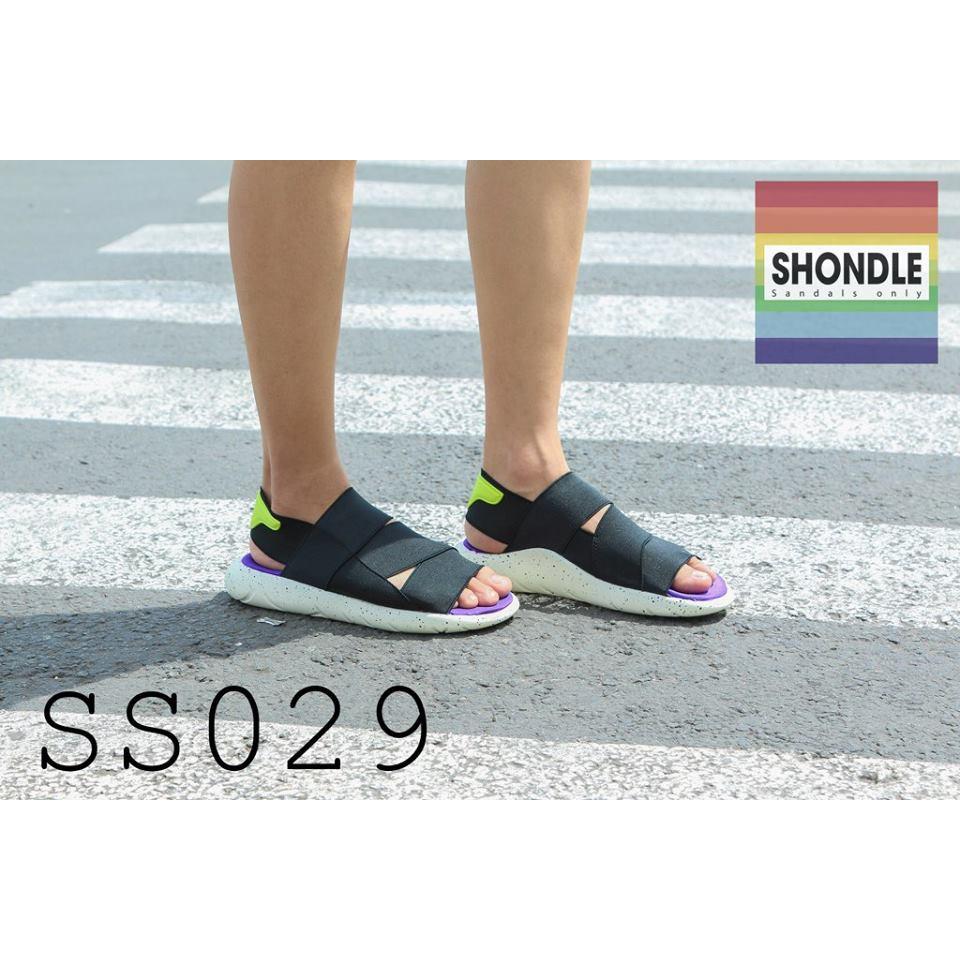 Sandal Y3 - Tím Trắng Đen [FreeShip] siêu êm - SS029