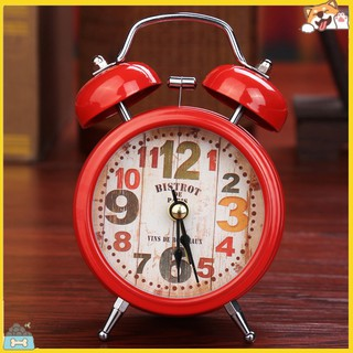 SPBS_Household Retro Alarm Clock Round Number Bell Desk Table Office Home Decor