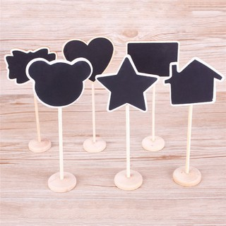 Mini Wood Blackboard Wooden Place Card Holder Table Number Office Decor