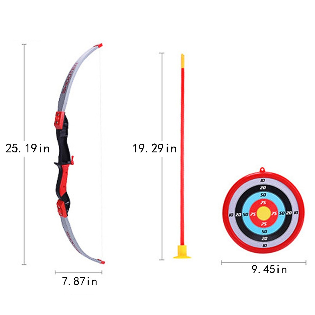 Bow Arrows Shooting Sports Toy Kids Shooting Game Toy - English Type-2