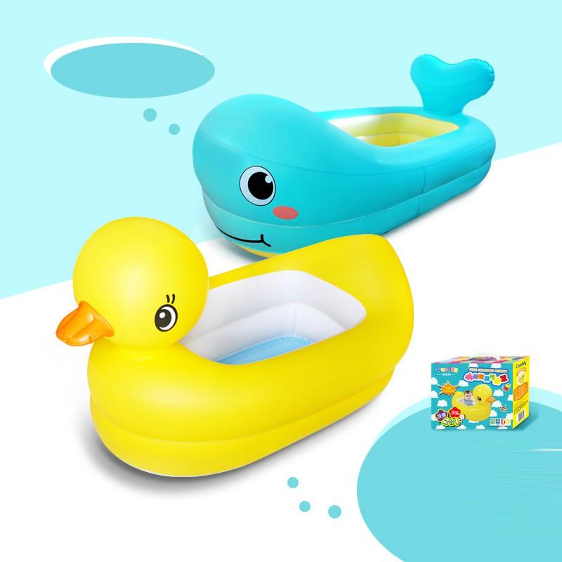 [ HÀNG MỚI VỀ ] Bồn tắm hình con vịt và cá heo cho bé