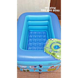 Combo Bể bơi 3 tầng 1m3 + phao cổ + bơm điện