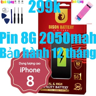 Pin iPhones 8 Con Trâu dung lượng cao 2050mAh BISON chính hãng thumbnail