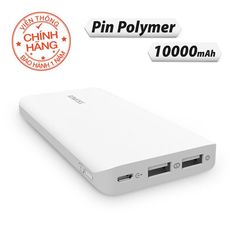 Pin sạc dự phòng 10.000mAh Romoss Domino DM10 - Hãng phân phối chính thức